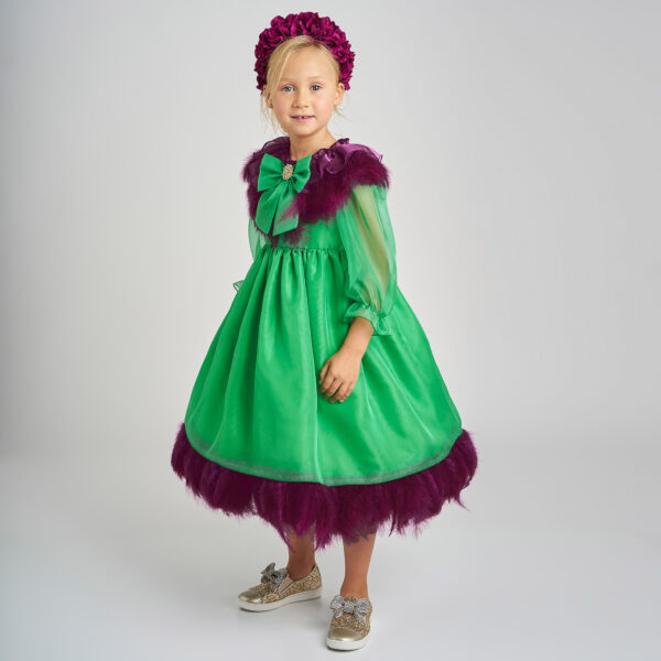 Graci Green Dress For Litlle Princess 1
