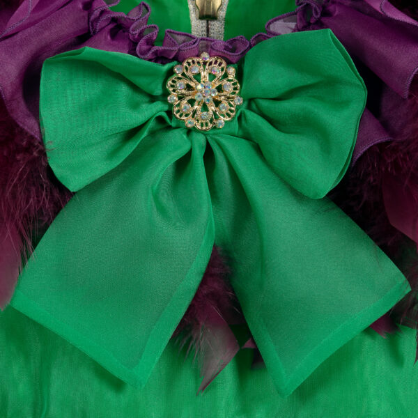 Graci Green Dress For Litlle Princess 3