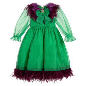 Graci Green Dress For Litlle Princess