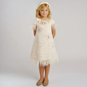 Graci Ivory Dress With Butterflies 1