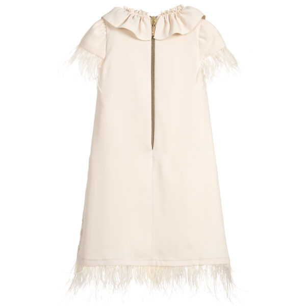 Graci Ivory Dress With Butterflies 2