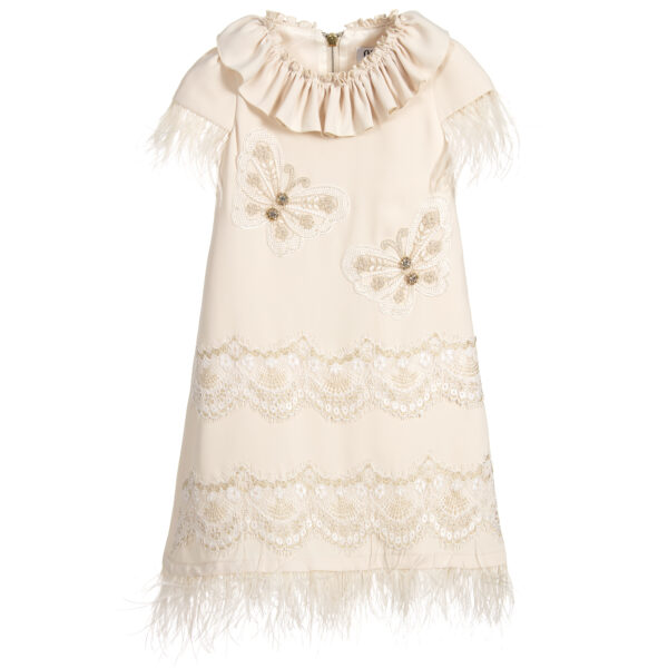 Graci Ivory Dress With Butterflies