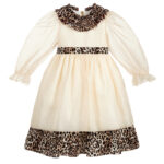 Graci Ivory Dress With Leopard Print 2