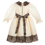 Graci Ivory Dress With Leopard Print 3