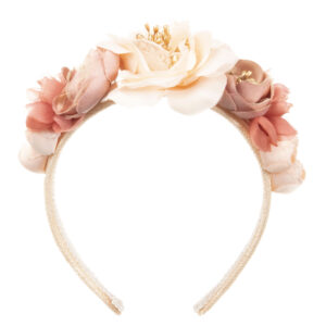 Graci Pink Headband With Flowers 1