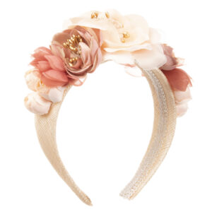 Graci Pink Headband With Flowers