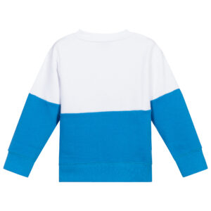 Stella McCartney Kids White & Blue Cotton Sweatshirt 1